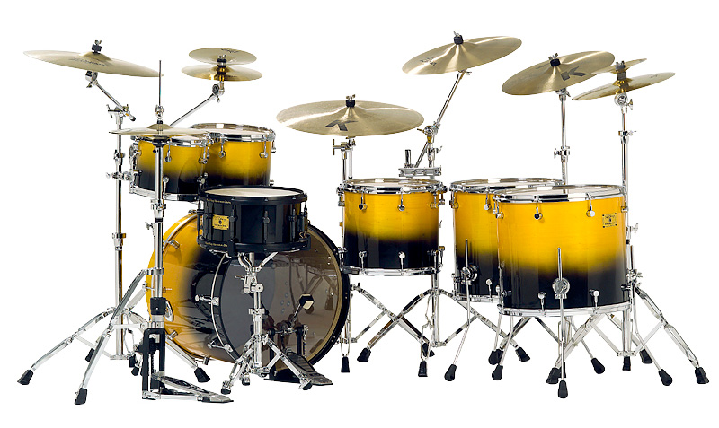 Custom Shop Yellow Black Odery Custom Drums