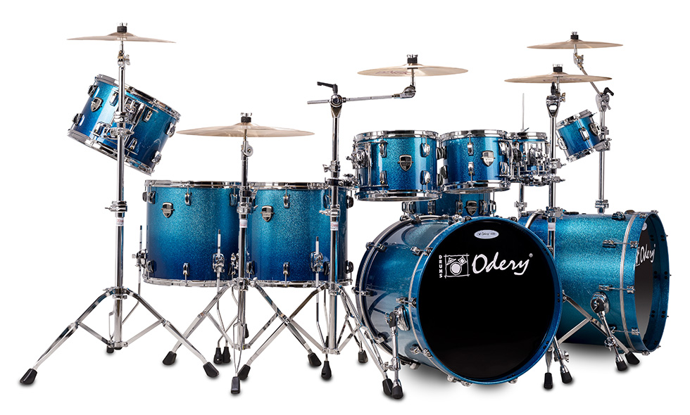Custom Shop Blue Sparkle Fade Odery Custom Drums